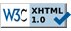 Valid XHTML 1.0 Transitional